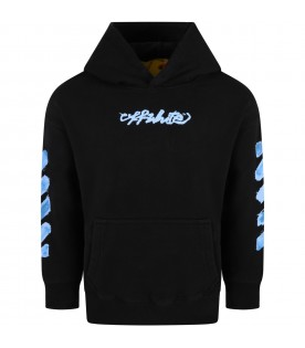 Black sweatshirt for kids with iconic arrows