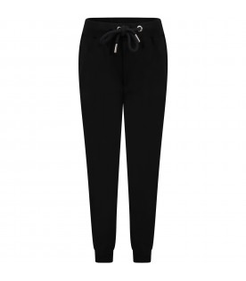 Black trouser for boy with logo