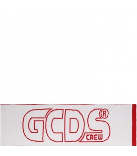 Red scarf for kids with logo