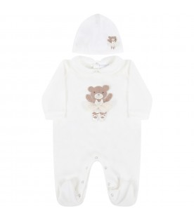 Ivory set for baby girl with bear