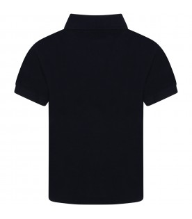 Blue polo t-shirt with heart