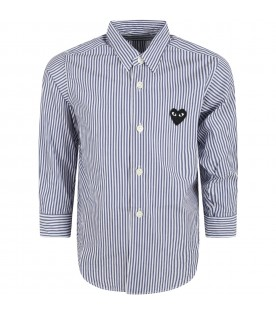 Multicolor shirt for boy with black heart