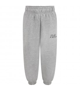 Grey sweatpant for kids with writing