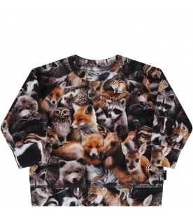 Multicolor t-shirt for baby kids with animals