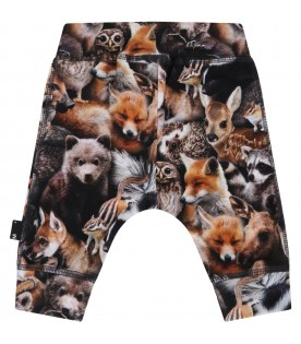 Multicolor trouser for baby kids with animals