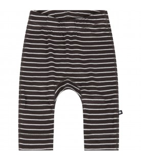 Grey trouser for baby kids with stripes