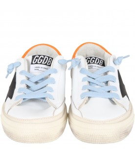 White ''May'' sneakers for kids