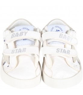 White sneakers for baby kids with cherries