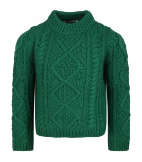 Green sweater for kids