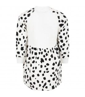 White dress for girl with dalmatian
