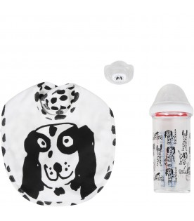 White set for baby kids with dalmatians