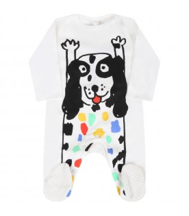 White set for baby kids with dog