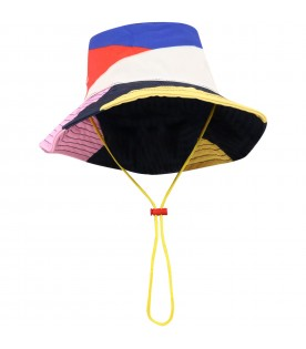 Multicolor hat for kids with logo