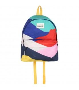 Multicolor backpack for kids with logo