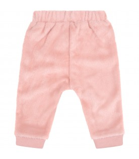 Pink trousers for baby girl