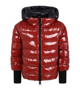 Red jacket for girl with patch logo