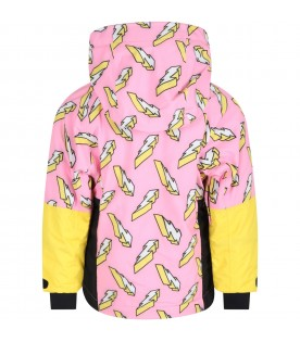 Pink jacket for girl with lightning