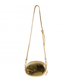 Gold bag for girl with logo