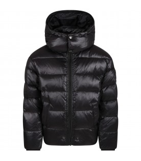 Black jacket for kids with iconic patch