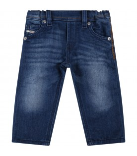 Blue jeans for baby boy with logo