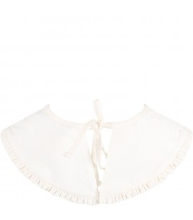 Ivory collar for girl with flowers
