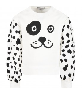 White suit for kids with Dalmatien
