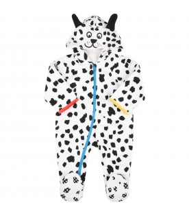White jumpsuit for kids with ears