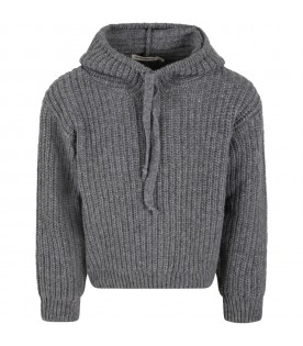Grey ''Lenny'' sweater for kids