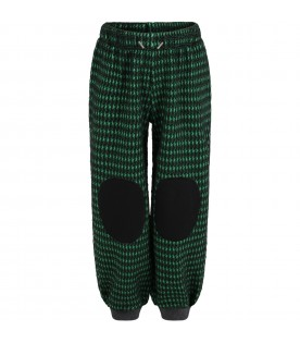 Multicolor sweatpants for kids with patch