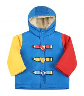Multicolor jacket for baby kids with pencils
