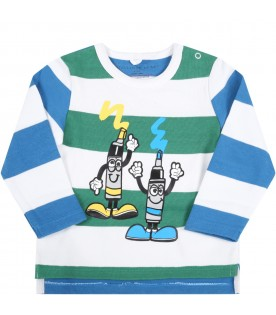 Multicolor t-shirt for baby kids with markers