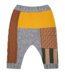 Multicolor leggings for baby boy with double FF