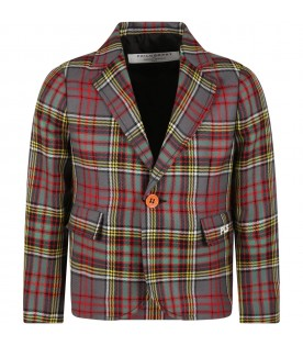 Multicolor jacket for girl with logo