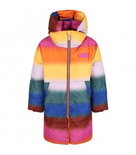 Multicolor jacket for kids with logo