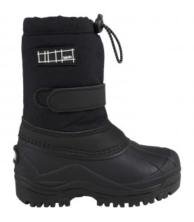 Black snow boots for kids