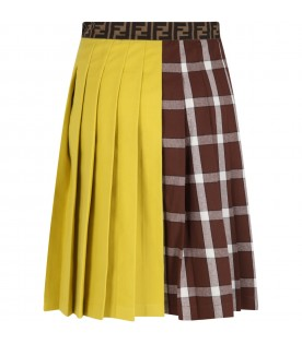 Multicolor skirt for girl with iconic prints