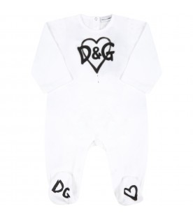 White set for baby kids with logo