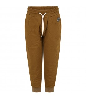Green sweatpants for kids with logo