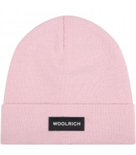 Pink hat for girl