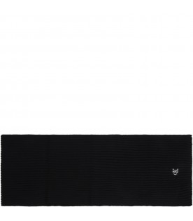 Black scarf for kids with logo