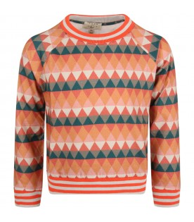 Multicolor t-shirt for kids with triangles