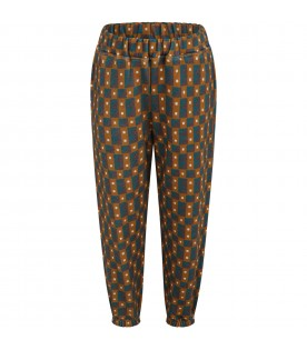 Multicolor sweatpants for kids with prints