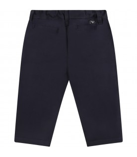 Blue trouser for baby boy with logo