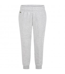Grey sweatpant for boy with logo