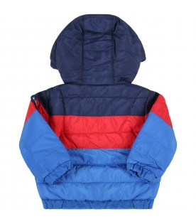 Multicolor jacket for baby boy with logo