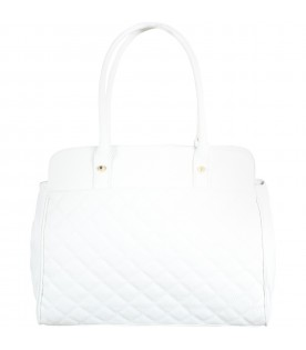 White changing bag for baby girl