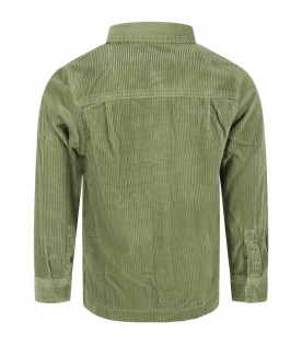 Green shirt for boy with logo