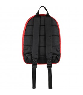 Red backpack for girl with logo