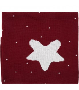 Bordeaux blanket for baby kids with star