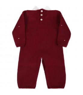Bordeaux babygrow for baby kids with star